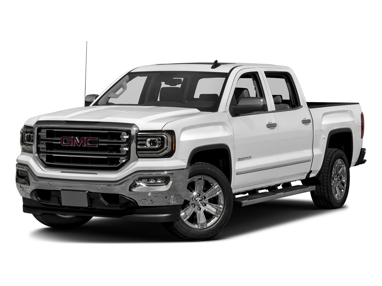 Summit White 2017 GMC Sierra 1500 SLT 4D Crew Cab Raleigh NC