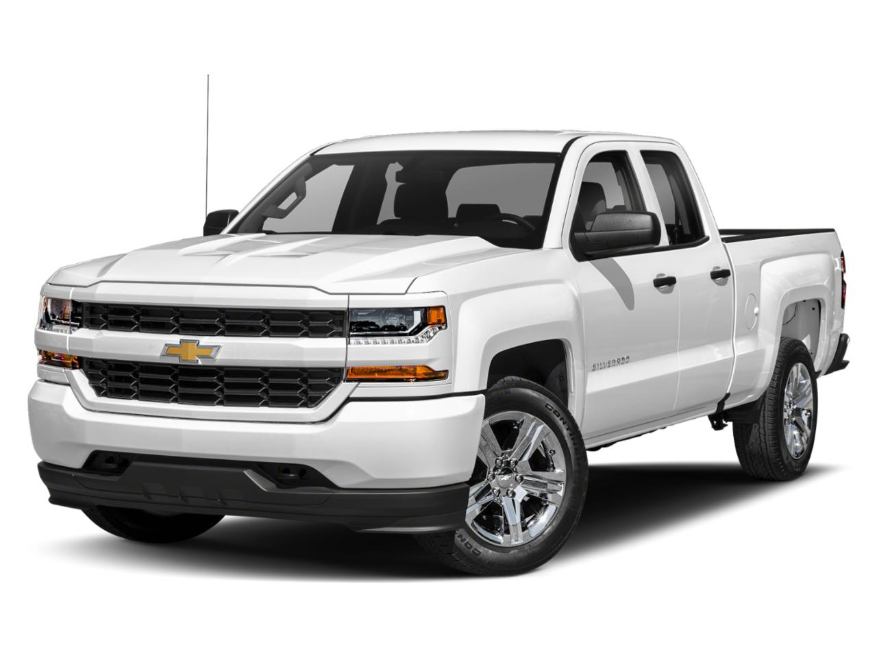 Summit White 2018 Chevrolet Silverado 1500 CUSTOM Extended Cab Pickup Wake Forest NC