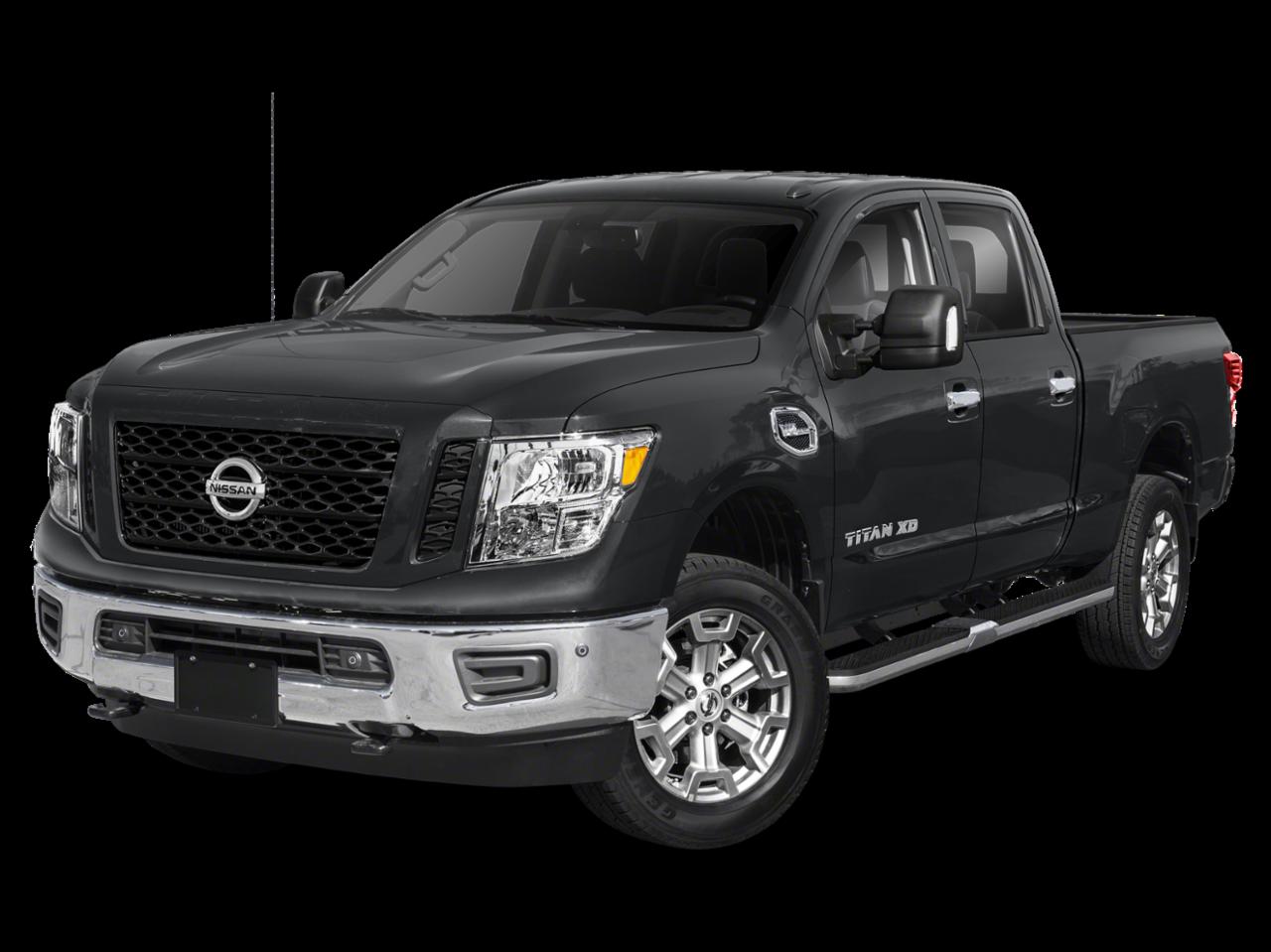 "2019 Nissan<br/><span class=""vdp-trim"">Titan XD SV 4WD Crew Cab Pickup</span>"